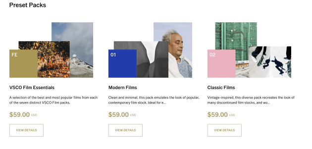 VSCO will be retiring its desktop presets from early next