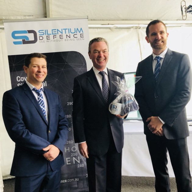 Minister for Defence Industry Christopher Pyne at the announcement in Adelaide. Chris Pyne via Twitter