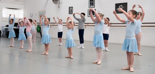 Children can respond well to the formality of ballet. Pictured are Sinead Vidler's Academy Ballet in Sydney Photo: ROSE PHOTOGRAPHY