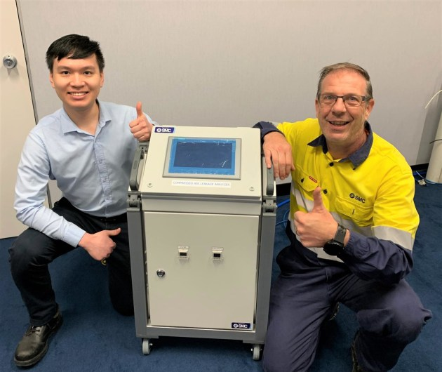 A portable compressed air leakage analyser, which doesn't require host machine reprogramming has been designed and built in Australia by SMC Corporation.