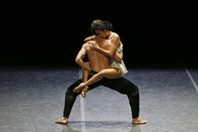 Karen Nanasca and Nathan Brook in Alice Topp's 'Clay'. Photo: Jeff Busby.