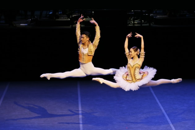 Ako Kondo and Chengwu Guo performing the pas de deux from 'Don Quixote'.