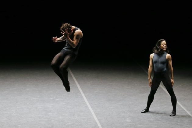 Jill Ogai and Marcus Morelli in Tim Harbour's 'Filigree and Shadow'. Photo: Jeff Busby.