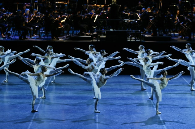 Artists of The Australian Ballet in 'La Bayadere'. Photo: Jeff Busby.