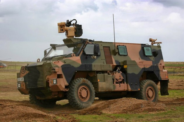 An EOS RWS on top of a Bushmaster. Credit: Thales/EOS/Defence