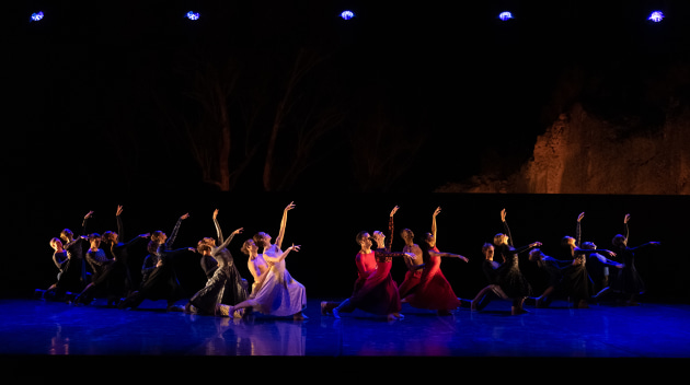 Dancers of the WA Ballet in '4Seasons', choreographed by Natalie Weir. Photo: Bradbury Photography.