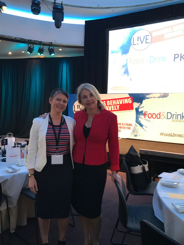 Brand Opus MD Nikki Moeschinger (left) with Food & Drink Business and PKN publisher Lindy Hughson.
