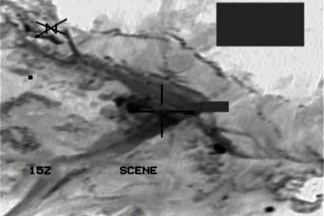 An infrared picture from a RAAF F/A-18A Hornet fighter aircraft shows the entrance to a Daesh underground tunnel complex in Syria.