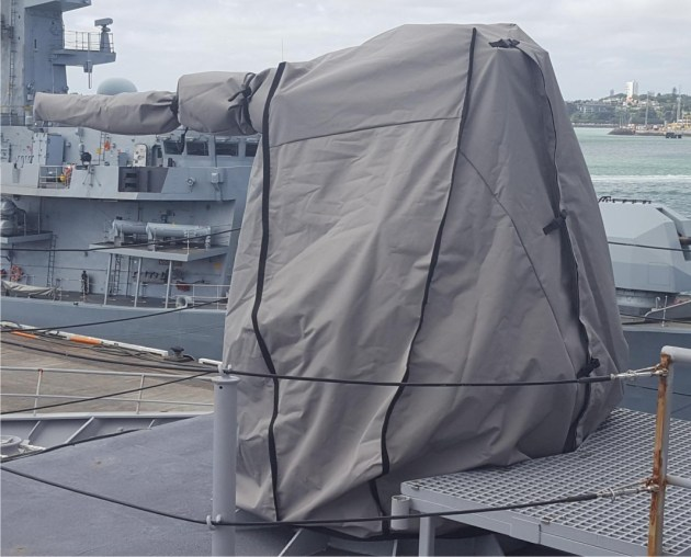 An Envelop cover on a Typhoon gun.