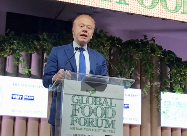 Anthony Pratt (pictured earlier this year at the Global Food Forum in Sydney), will play host to US President Trump and Australian PM Scott Morrison in Ohio this week.