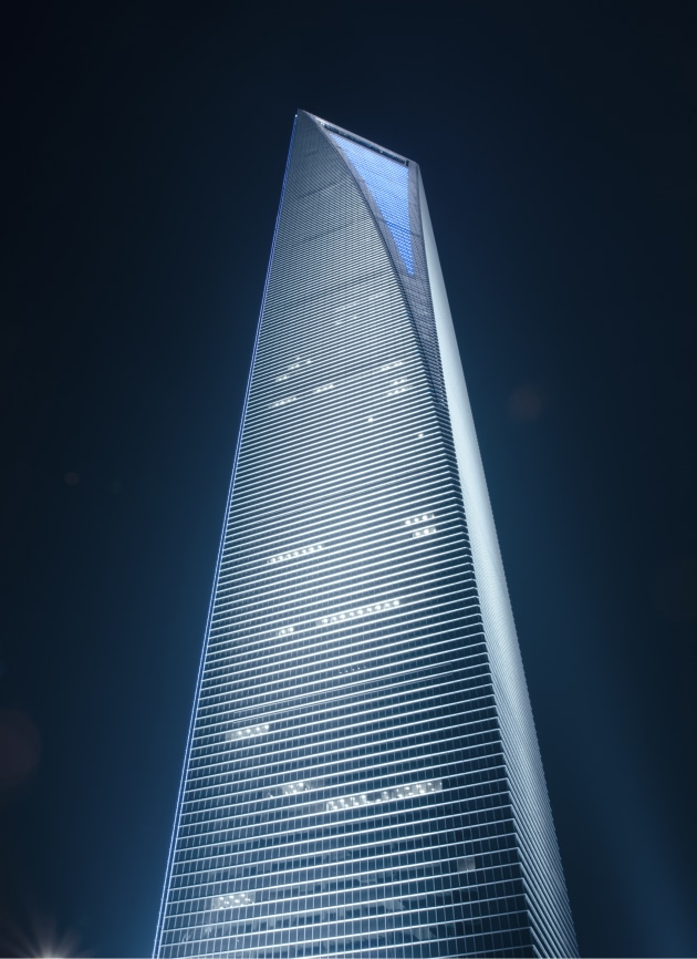 © Kristopher Grunert. World Financial Centre, Shanghai, China.  Architect: Kohn Pedersen Fox Associates (KPF).