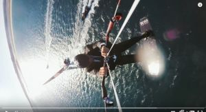 Alex Thomson at it again with extreme kite surfing behind the Hugo Boss boat