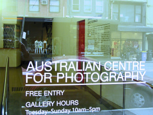 Australian Centre for Photography to shutter doors