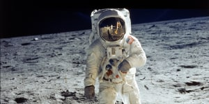 Iconic moon walk turns 50