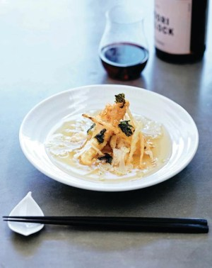 Recipe: Cibi's flathead and celeriac tempura in dashi and white soy broth