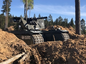 Armed unmanned ground vehicle deployed in Estonia
