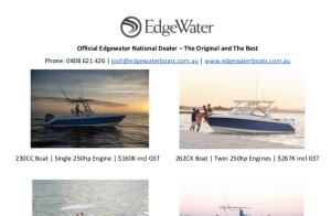 Massive savings off Edgewater Boats