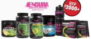 We're giving away Endura hydration products worth over $2000