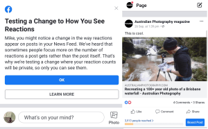 It's official: Facebook begins hiding like count