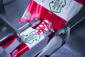 KitKat pack prototypes recycled soft plastic wrapper