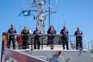 Palau receives Guardian class patrol boat