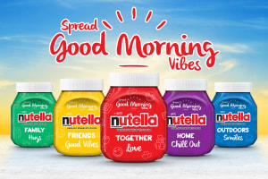 Nutella's new packs add colour to mornings