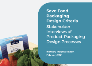 Industry report: Save Food Packaging Design Project