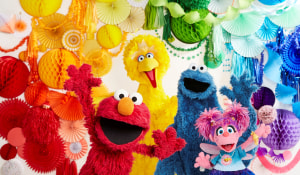Haven celebrates after being named Sesame Street's Agent of the Year