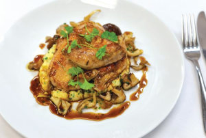 Recipe: Jon Touillet's spatchcock with polenta, mushrooms and tarragon jus