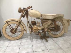 Wooden Motor Bike build: my COVID project