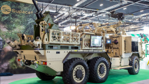 Supacat showcases autonomous vehicles and integrated fires