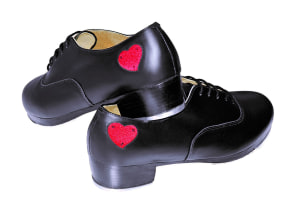 So Danca: Men's & Women's Premium Leather Pro Tap with Heart & Custom Made
