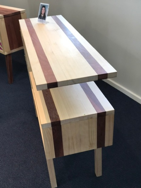 Cabinet with Laser Cut Decorative Feature Door - Australian